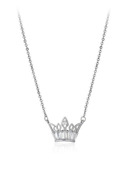 Tophills Diamond Co. 0,60 Ct Pırlanta Efekt Altın Crown Trapes Kolye Renkli